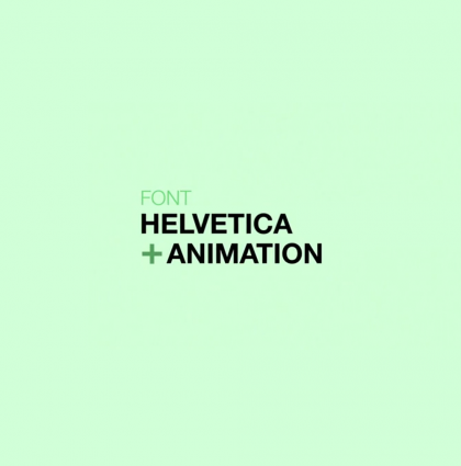 Helvetimation – Animated Typeface for After Effects